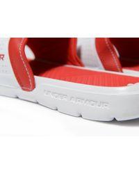 Under Armour Red Playmaker Slides for men