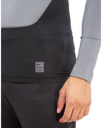 Nike Gray Pro Hyperwarm Lite Compression Mock Men' for men