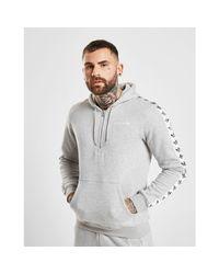 Adidas Originals Gray Tape Fleece 1/2 Zip Hoodie for men