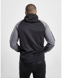 Tape Poly 1/2 Zip Felpa con cappuccio di Nike in Black da Uomo