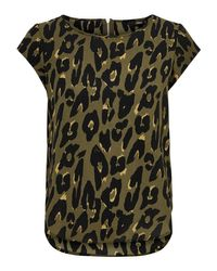 ONLY Multicolor Top ONLVIC SS AOP