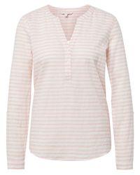 Tom Tailor Denim Pink Langarmshirt Striped Henley