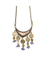 Jenny Bird Metallic August Moon Necklace