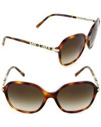 Burberry - Be 4228 3316/13 Irregular Sunglasses Light Havana/brown Gradient Lens - Lyst