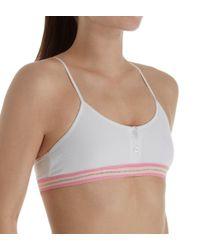 8635d94e2294e Lyst - Maidenform Girl H4361 Cotton Ribbed Racer Pullover Bra in White
