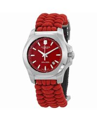 Victorinox - I.n.o.x. Paracord Red Dial Watch 241744 for Men - Lyst
