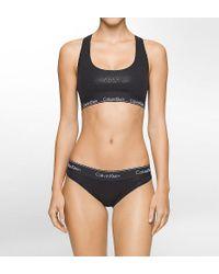 Calvin Klein - Black Qf1693 Modern Cotton Bralette & Bikini Panty Gift Set - Lyst