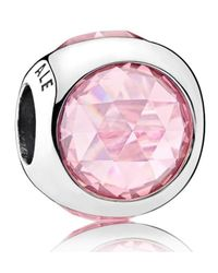 Pandora - Pink Radiant Droplets Charm - Lyst