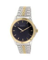 a794681861d Lyst - Gucci Timeless Red Gold Pvd Watch Ya126410 in Metallic for Men