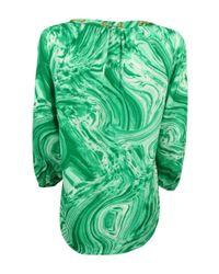 CALVIN KLEIN 205W39NYC - Green 3/4 Sleeve Chain Trim Blouse (m - Lyst