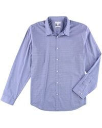 Calvin Klein - No Iron Button Up Shirt Blue Xl for Men - Lyst