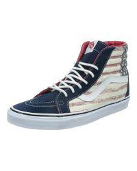 Vans | Unisex Sk8-hi Reissue Americana Sneakers Dressblues M4.5 W6 | Lyst