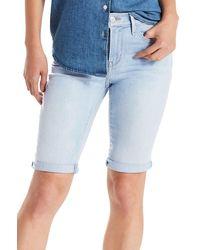 Levi's - Blue Denim Bermuda Shorts - Lyst