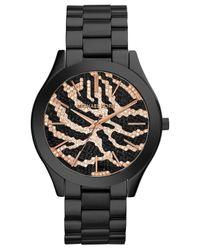 Michael Kors | Black Mk3316 Slim Runway Watch for Men | Lyst
