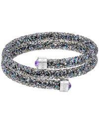 Swarovski - Multicolor Crystaldust Double Bangle Bracelet - Lyst