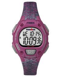 Timex - Multicolor Ironman Essential Tw5m076009 Gray Pink Resin Digital Unisex Watch - Lyst
