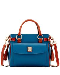 Dooney & Bourke - Blue Pebble Grain Medium Pocket Satchel - Lyst