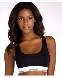 Calvin Klein - Black Modern Cotton Racerback Bralette - Lyst
