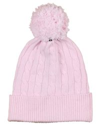 Polo Ralph Lauren - Pink Pony Cable Beanie for Men - Lyst