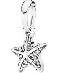 Pandora | White Tropical Starfish Pendant Charm | Lyst