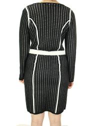 CALVIN KLEIN 205W39NYC - Black Textured Long Sleeves Sweater Dress (m - Lyst