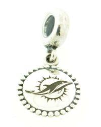 Pandora | Metallic 'nfl Team' Logo Engraved Dangle Charm | Lyst