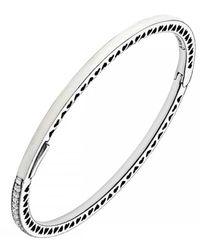 Pandora - Multicolor Pearlescent Radiant Hearts Of Bangle - Lyst