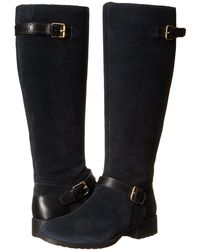 Cole Haan - Womens Marla Suede Almond Toe Knee High Fashion Boots Black - Lyst