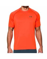 Under Armour | Orange Threadborne Short-sleeve Tee for Men | Lyst
