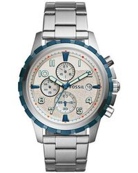Fossil - Metallic Dean Fs5319 Silver Stainless-steel Quartz Fashion Watch for Men - Lyst
