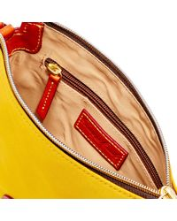 Dooney & Bourke - Yellow Nylon Crossbody Pouchette - Lyst