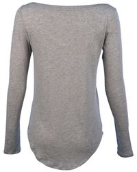 Polo Ralph Lauren - Gray L/s Scoop Neck Pony T-shirt-andover Heather/grey-small - Lyst