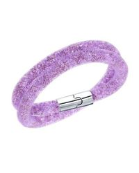 Swarovski | Purple Stardust Double Bracelet | Lyst