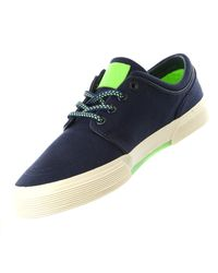 Polo Ralph Lauren | Blue Faxon Low Sneaker (newport Navy/ultra Lime for Men | Lyst
