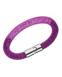 Swarovski - Stardust Purple Gradient Bracelet - Lyst