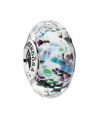Pandora - Multicolor Tropical Sea Glass Charm - Lyst