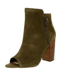 Jessica Simpson | Green Keris Suede Dark Olive Ankle-high Suede Pump | Lyst