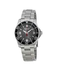 Victorinox - Multicolor Swiss Army Maverick Mechanical Grey Dial Ladies Watch 241708 for Men - Lyst