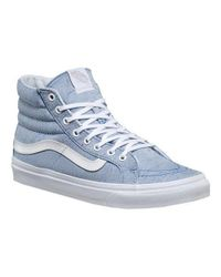 Vans - Blue Unisex Sk8-hi Slim High Top for Men - Lyst