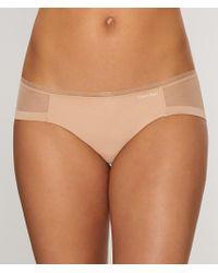 Calvin Klein | Brown Sculpted Bikini | Lyst