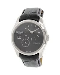 Tissot - Black Couturier T035.428.16.051.00 Leather Swiss Automatic Watch for Men - Lyst
