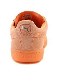 PUMA - Suede Classic Mono Reflced Women Us 6.5 Orange Sneakers - Lyst