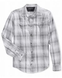 Calvin Klein Jeans - Multicolor Mens Big & Tall Printed Long Sleeve Button-down Shirt for Men - Lyst