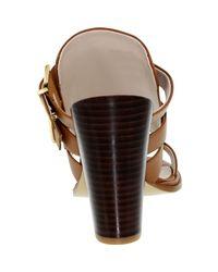 Kenneth Cole - Brown Kenneth Cole Salem Cognac Low Top Leather Sandal - Lyst