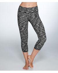 Calvin Klein | Black Cut-off Logo Cropped Leggings | Lyst