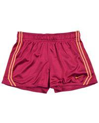 Nike - Pink Big Girls (7-16) Dri-fit Mesh Training Shorts-fuschia-small - Lyst