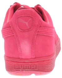 PUMA Pink Dc5 Classic Tonal Suede Low Sneakers