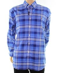 Polo Ralph Lauren - Blue Plaid Xl Button Down Oxford Shirt for Men - Lyst