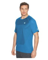 Champion - Blue S/s Outdoor Training Tee-s/running Waves Heather for Men - Lyst
