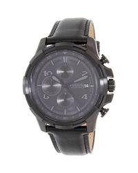 Fossil - Dean Fs5133 Black Stainless-steel Quartz Watch for Men - Lyst